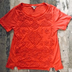 Lucky brand embellished t shirt size Small